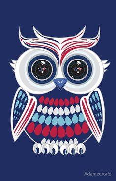 Patriotic Owl - Blue