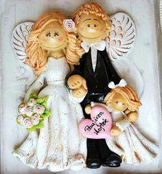 !!! Salt Dough Crafts, Mural Art, Ceramic Clay, Acrylic Art, Clay Art, Decoration, Marie, Wedding Gifts, Diy And Crafts
