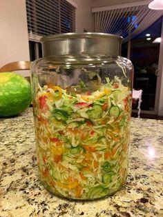 Hungarian Recipes, Ketchup, Pickles, Cucumber, Mason Jars, Salads, Homemade, Cooking, Food