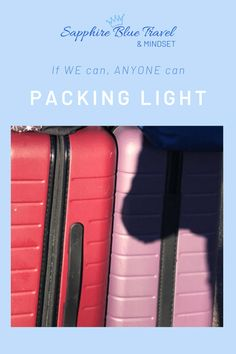 Packing light may not be for everyone and can be a very daunting prospect to many. The idea of limiting your clothes choices, not having what you need on hand can be a real stress point for some, but I am hoping to inspire and give you the confidence to give it a go.  If we can do it anyone can! #packinglight #packingcubes #europetravel #packing #travel #packingtips Packing Cubes, Packing Tips, European Destination, Packing Light, Blue Sapphire, Mindset, Travel Inspiration, Traveling By Yourself, Choices