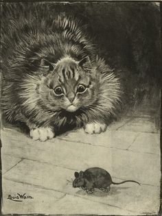 Cats in Art, Illustration, Photography, Decorative Arts, Textiles, Needlework and Design: Louis Wain