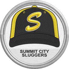Summit City Sluggers hat - baseball cap - sports logo - uniform - Great Lakes Summer Collegiate League - Minor League Baseball - MiLB - Created by Jackson Cage Minor League Baseball, Pacific Coast, Sports Logo, Great Lakes, Caps Hats, Golf Clubs, Cage, Nashville, Tennessee