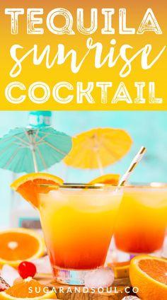 Tequila Sunrise Recipe Averie Cooks Tequila Drinks