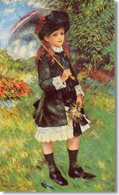 Fillette au parc (1883)  -  Collection particulière