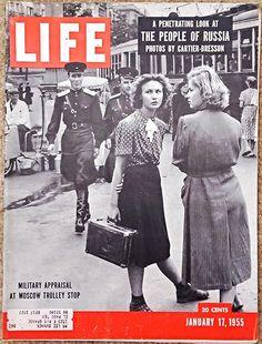"JANUARY 17, 1955 ""LIFE"" Magazine - GRETA GARBO - PANAMA - PACKARD - U.S. JAZZ"