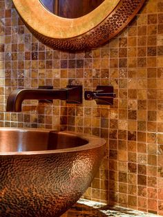 Image result for contemporary rustic bathroom slate copper