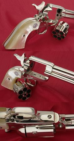 Colt Saa Generation Revolver Barrel Nickel With Pearl Grips Weapons Guns, Guns And Ammo, Colt Single Action Army, Western Holsters, Revolver Pistol, Custom Guns, Gun Holster, Cool Guns, Firearms