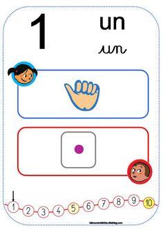 Nombres de 1 à 10 à imprimer, Affichage Cap Maths - la trousse d'Atcha