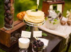 wedding brunch crepe station dbi events 550x404 Farm Stand Wedding Brunch Ideas