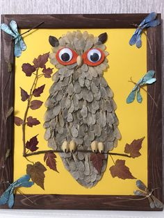 a great idea for autumn craft classes Leaf Crafts, Diy And Crafts, Arts And Crafts, Paper Crafts, Fall Projects, Projects For Kids, Fall Crafts For Kids, Diy For Kids, Preschool Crafts
