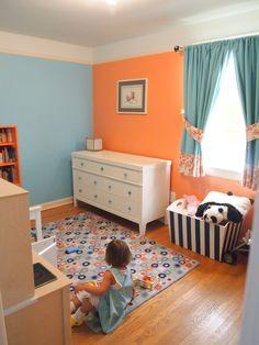 Aqua and orange ideas for Allys big girl room