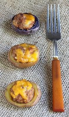 Meatloaf stuffed potatoes