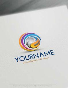 Free logo maker soccer football logo design template for 3d creator online