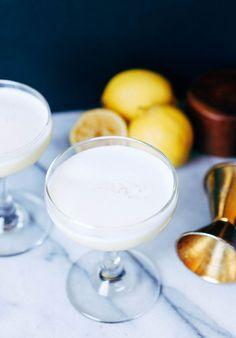 portrait of a cocktail // The Bees Knees1 oz Honey Syrup (recipe below) 1 oz Lemon Juice 2 oz gin 1/2 oz fresh egg whites