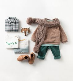 Zara Baby Boys Sweater, Pants & Scarf