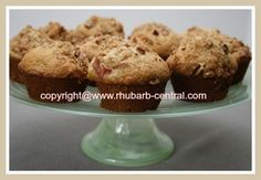 BEST MOIST RHUBARB MUFFINS! - 3 cups all-purpose flour; 1 1/2 cups packed brown sugar; 1 tsp. baking soda; 1 tsp. salt; 2 eggs; 1 cup buttermilk or 1 cup milk including 1 tbsp. vinegar or lemon juice; 2/3 cup vegetable oil; 2 tsp. vanilla extract; 2 cups chopped fresh or *frozen rhubarb; 1 cup chopped pecans or walnuts.