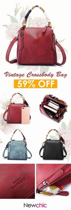 b2959bedf145  US 25.92 Women Vintage Crossbody Bag PU Leather Shoulder Bag   womenhandbags  leatherbags