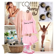 """""""grab a coffee and relax!"""" by soyance ❤ liked on Polyvore featuring Pier 1 Imports, Arteriors, Starfrit, H&M, Wildfox, Casetify, Little Joule, relax, coffee and slippers"""