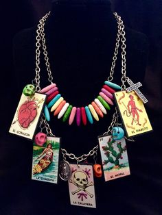 Loteria Necklace  by HothouseOrchid on Etsy