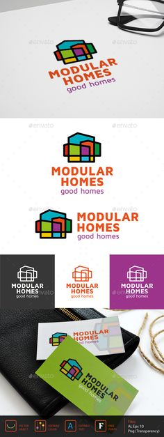 Modular homes Logo Template #design #logotype Download: http://graphicriver.net/item/modular-homes-logo/13033175?ref=ksioks