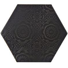"Found it at AllModern - Caprichos 5"" x 4"" Porcelain Field Tile in Black"