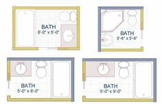 X Small Bathroom Floor Plans Baths Pinterest Small Bathroom - 5x5 bathroom design