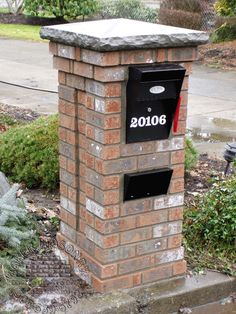 brick mailbox perfect for outside