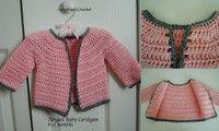 Super Fast Baby Cardigan , #free #crochet #pattern by Lorene Eppolite on AllFreeCrochet.com