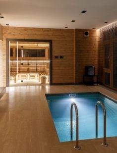 Home Gym Design, House Design, Spa Inspired Bathroom, Diy Swimming Pool, Piscina Interior, Luxury Homes Dream Houses, Saunas, Home Spa, Cribs