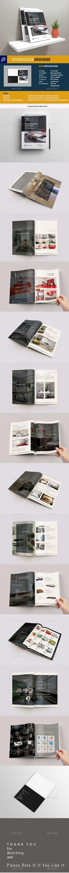Interior Design Brochure Template InDesign INDD - 26 Pages