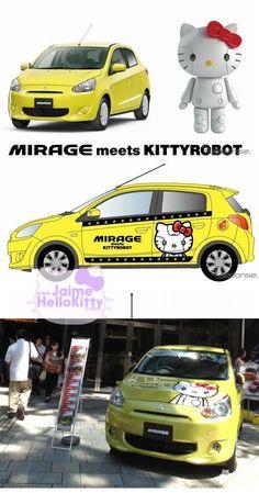Hello Kitty Mitsubishi Mirage, KittyRobot version.