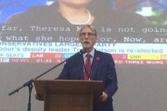 George Howarth, MP for Knowsley since the 1980s, raked in the biggest majority of the night in 2017 (over 42,000). Such a foregone conclusion that the hall probably just watched the big TV screen rather than scrutinising the count.