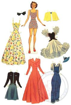 Judy Garland paper doll & dresses