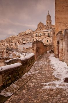 street in Matera, UNESCO site