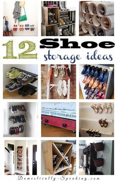 12 Shoe Storage Organization Ideas