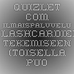 quizlet.com - ilmaispalvelu käsitekorttien tekemiseen (toisella puolella kysymys / termi, toisella vastaus).