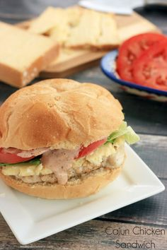 Cajun Chicken Sandwich Recipe. Cajun Chick and Spicy Mayo with the works. Quick to make and a must try recipe!