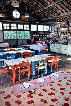 LX Factory : Restaurant, librairie, école de cuisine dans une une ancienne manufacture textile/imprimerie (Lisbonne, Portugal)