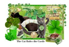 """""""The Cat Rules the Castle"""" by thesandlappershop ❤ liked on Polyvore featuring art"""