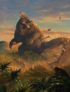 """""""Magic: The Gathering - Godzilla Monster Series artwork showcase. King Kong, Godzilla Raids Again, All Godzilla Monsters, Neo Monsters, Godzilla Comics, Arte Grunge, Godzilla Wallpaper, Arte Dc Comics, Monster Art"""