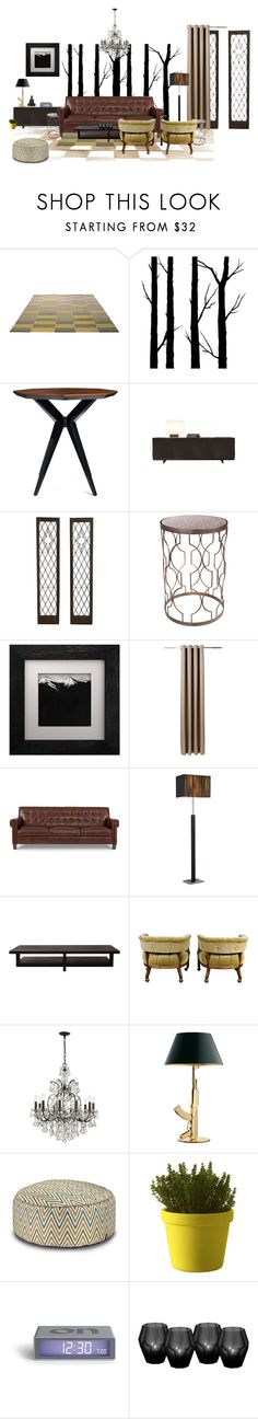 """""""His"""" by lindagama on Polyvore featuring interior, interiors, interior design, home, home decor, interior decorating, ESPRIT, Dot & Bo, Kate Spade and Universal Lighting and Decor"""