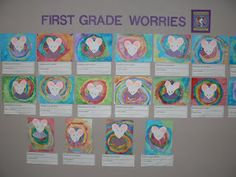 "Writing and art activity inspired by the book ""Wemberly Worried"" written by Kevin Henkes"