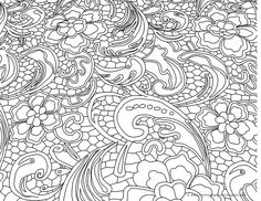 Coloring Page World: Flowery (Landscape)