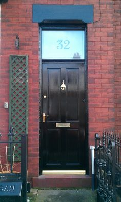 Etched Glass Style Fanlight Transom House Numbers For