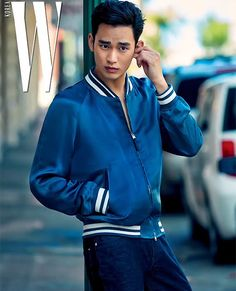 Kim Soo Hyun Dons the Summer Broody Rebel Look for July Issue of W Korea   A Koala's Playground