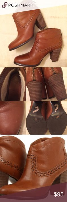"""UGG Australia Ankle Boots Leather upper with zipper closure and whip stitched western accents, stacked heel, and UGGpure wool lining at the ankles make this fashionable, functional, and cozy! Heels measure about 3"""". These have been worn only a handful of times - in excellent condition! UGG Shoes Ankle Boots & Booties"""