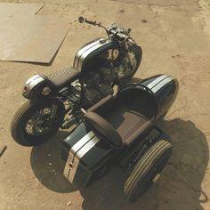99garage | Cafe Racers Customs Passion Inspiration: Honda CB900 Cafe Racer Sidecar