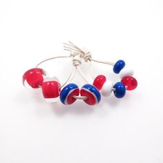 Jubilee Inspiration Red, White and Blue Lampwork Bead Mix SRA GBUK  £10.50