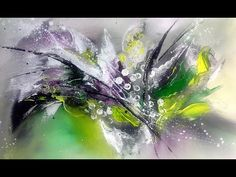 White flowers-Einfach Malen-für Anfänger in Echtzeit-Easy Painting-For beginners-real time - YouTube