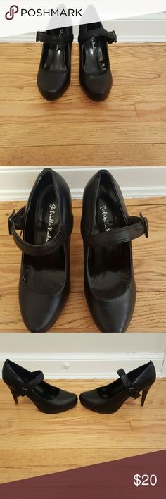 Gabriella Rocha black covered platform maryjanes Sweet and sexy maryjanes with a covered platform and spiky heels. Approximately 4 in high. Only worn a handful of times. Excellent condition. Only wear is on bottom side of shoes. Size 8 Gabriella Rocha  Shoes